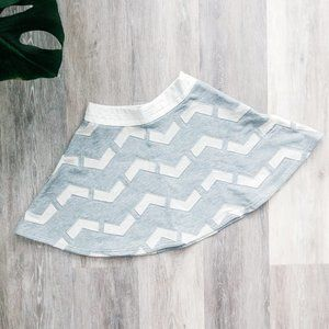 Endless Rose grey chevron skirt faux leather NWOT